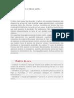 PAULTA DO CURSO DE BALISTICA
