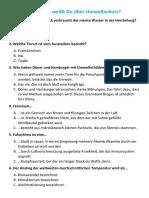 Quiz Umwelt B1