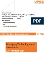 Importance of Managing technology