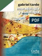 Tarde-Monadologia y sociologia