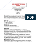 Tolkien's Middle Earth - ENGS 095 OL7 - Course Syllabus or Other Course-Related Document
