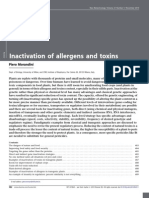Inactivation of Allergens and Toxins