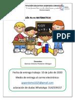 Guía No 003 MATEMATICAS DE 5 laurenn