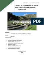 DISEÑO DE PLANTA DE TRATAMIENTO PISCIGRANJA-INGENIO