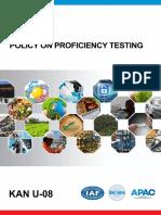 KAN U-08 Policy on Proficiency Testing