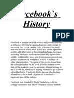 Facebook`s History