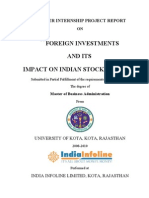 Impact of Foreign Investment on Indian Stock Market