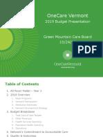 OneCare Budget Presentation - GMCB Final.pdf