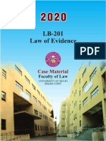 LB-201 Law of Evidence Full case Material, January 2020