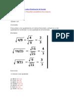 Exercícios resolvidos sobre Radiciação de frações