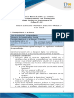 Guía de actividades y rúbrica de evaluación - Unidad 1 - Fase Inicial