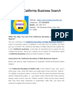 State of California Business