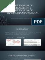 Amplificador de aislamiento y amplificador de transconductancia(.pptx
