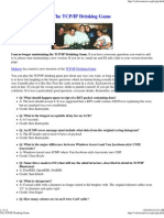 The TCP_IP Drinking Game