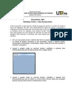 Visual Basic .NET - Windows Forms - Lista de Exercícios.pdf