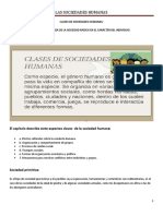 LAS CLASES DE SOCIEDADES HUMANAS  (1)
