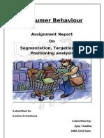 Consumer Behaviour Final Assignment 2003