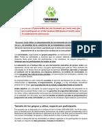 GUÍA PARA PARTICIPACIÓN COVID19 - LA TRIBU CANAIMARA 2020