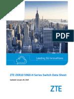 ZTE ZXR10 5960-H Series Switch Data Sheet