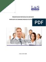 LABOR Y SALUD - Propuesta de Exámenes Medicos Ocupacionales -PARQUE COMERCIAL EL TESORO -Enero 21 de 2020