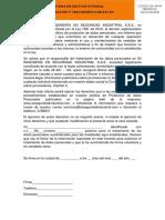 GA-FR-47 AUTORIZACIÓN Y TRATAMIENTO DE DATOS
