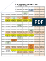 Cronograma de Actividades 2020