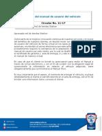 Boletin de servicios 11 Entrega manual de susuario