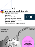 Chapt 5 Motivation and Morale