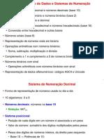 Representação de Dados e Sistemas de Numeração