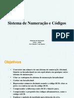 Sistema de Numeração e Códigos. Sistemas de Informação CPCX UFMS Prof. Renato F. Dos Santos