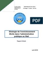 Rapport d'étude sur l'étiologie de l'enrichissement illicite dans l'administration malienne _ collectif dernier.docx