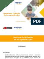 SEMANA DE REFLEXIÓN DE LOS APRENDIZAJES
