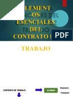 Elementos esenciales de contrato de  trabajo