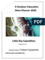 Year 9 Outdoor Education Expedition Planner 2020