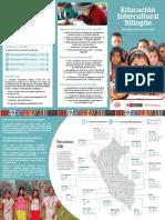 Educación intercultural bilingüe. Tríptico Perú 2019