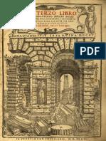 SERLIO, Sebastiano • Il Terzo Libro Di Sabastiano Serlio Bolognese (Venetia, 1544) (facsimile)