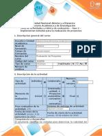 Guía de actividades evaluación de proyecto  Fase 2 - Implementar métodos para la evaluación