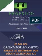 EL ROL DEL ORIENTADOR FRENTE AL TDAH