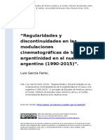Luis Garcia Fanlo (2016). zRegularidades y discontinuidades en las modulaciones cinematograficas de la argentinidad en el nuevo cine arge (..)