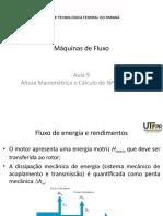 09 - Altura Manométrica e Cálculo de NPSH - Parte  I