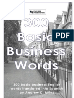 300 Basic Business Words English to Spanish