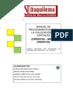 Manual de Creditos COAC Daquilema
