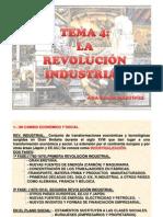 TEMA 4 LA REVOLUCIÓN INDUSTRIAL  I Y II