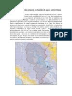 Determinación de zonas de protección de aguas subterráneas