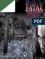 Games PS2 FATAL FRAME User Manual