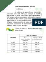 OPERACIONES DE MANTENIMIENTO WIRE LINE