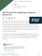 Best Practices for Designing a Pragmatic RESTful API _ Vinay Sahni