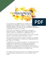 Psicogénesis y Conciencia Fonológica