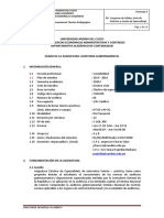 Silabus Auditoria Gubernamental 2020 -II