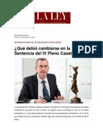 Alan Pasco Arauco- ¿Que debio cambiarse en la sentencia del IV Pleno Casatorio